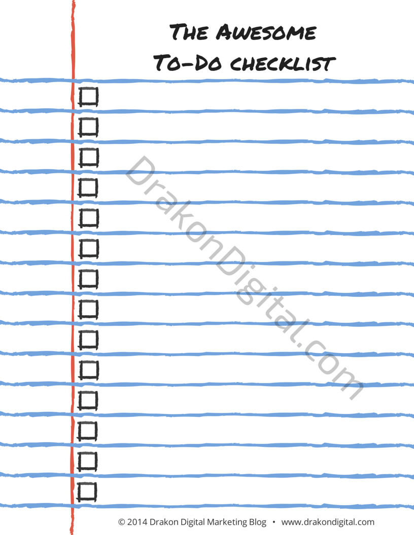 Awesome To-Do Checklist