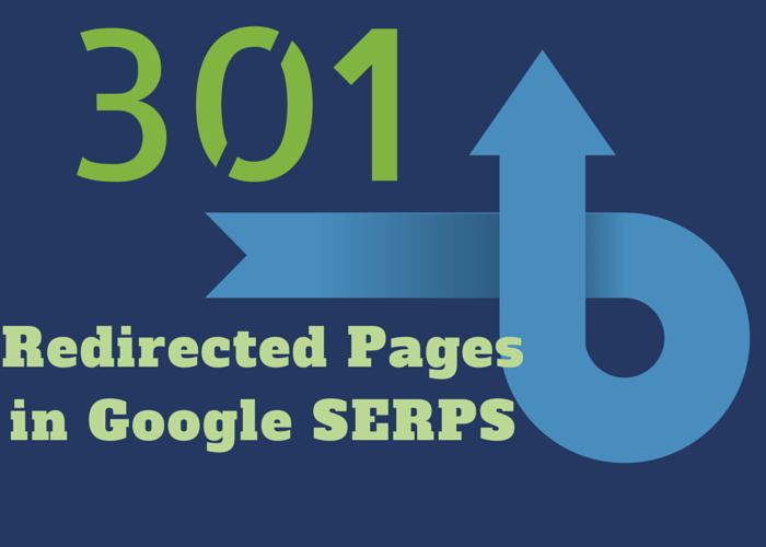 Redirected Pages in Google SERPS