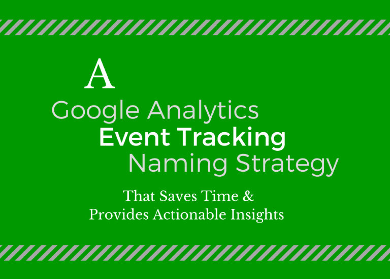 google event tracking naming strategy